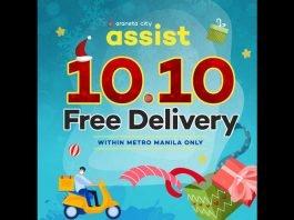 Araneta City 10.10 free delivery service